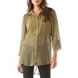 Free people best of both worlds green shirt